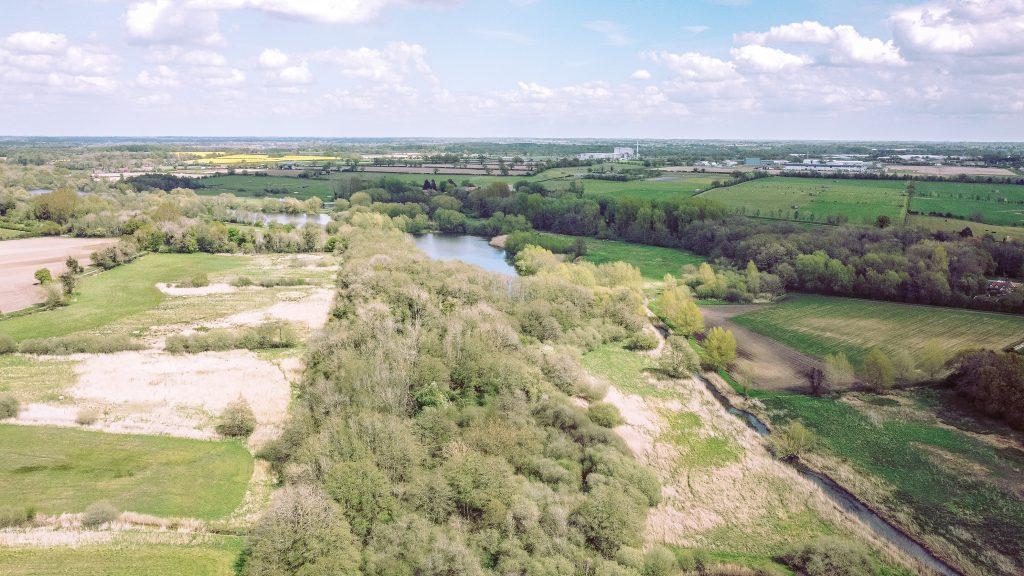 View of Snetterton in Norfolk, taken with a drone