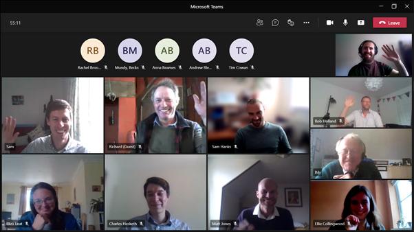 Microsoft Teams video call meeting